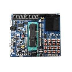 51 mcu placa de aprendizagem 51 mcu placa de desenvolvimento experimento stc89c52 kit mcu