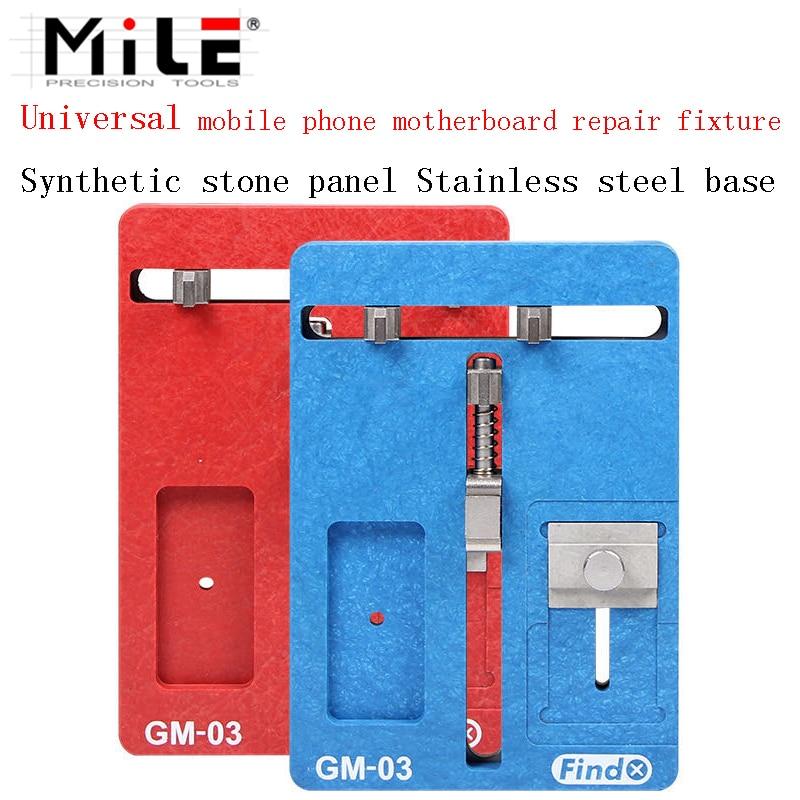 MILE  Motherboard Clamps High Temperature Main Logic Board PCB BGA Fixture Holder for iPhoneA8 A9 A10 Plus Fix Repair Mold Tool