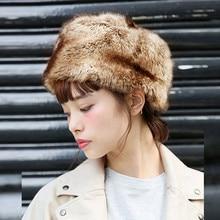 Модная женская зимняя шапка, сохраняющая тепло, искусственный мех, головной убор, шапка для снежной погоды, шапка для снежной погоды, Россия