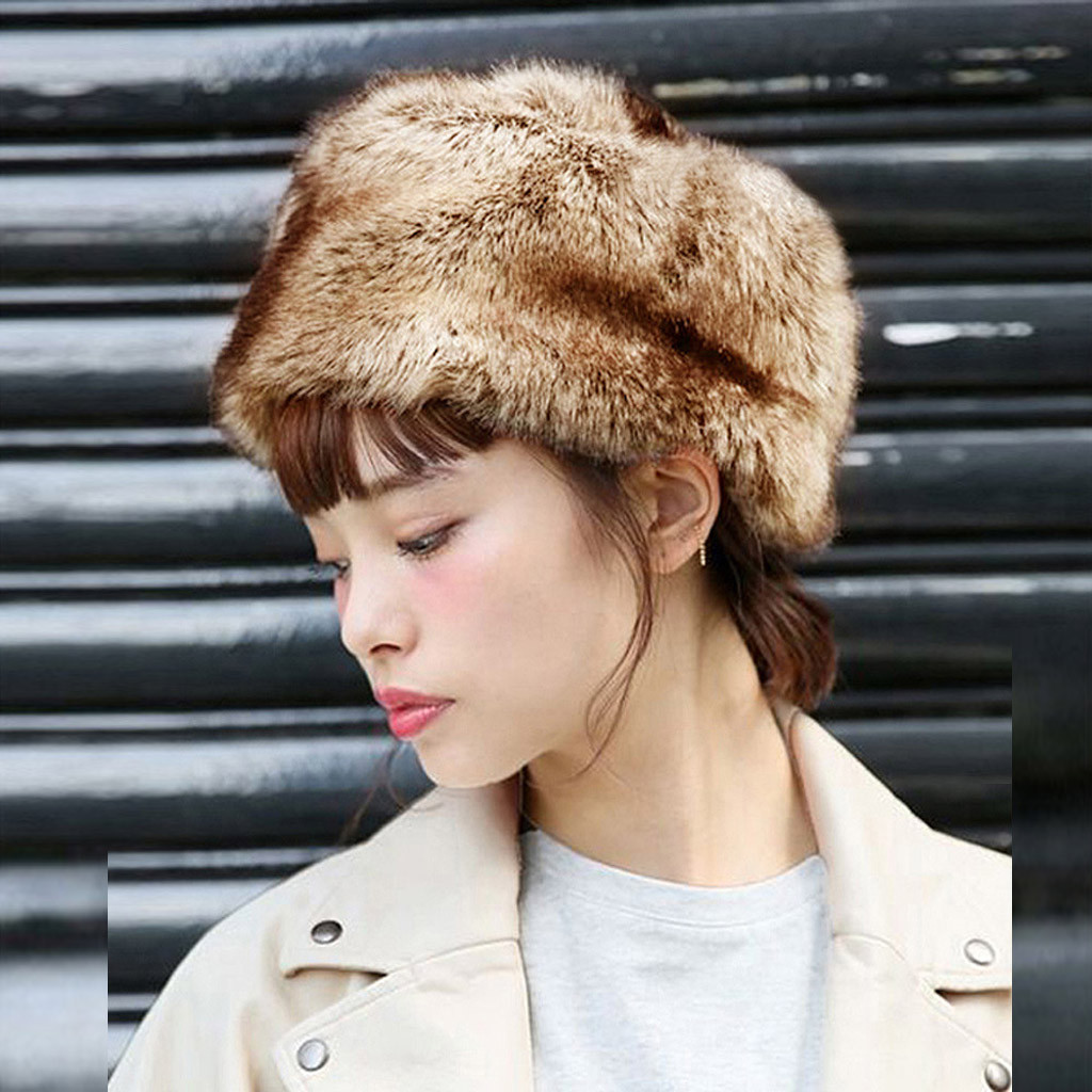 Fashion Women Winter Hat Keep Warm Faux Fur Headgear Snow Hat Cap шапка женская шапка кепка Hat шапка ушанка шапка зимняя Russia