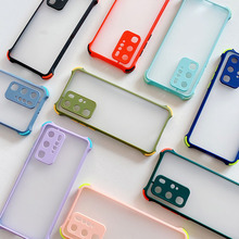 phone case for samsung galaxy a42 a21 a31 a41 a51 a71 a81 a91 5g a01 core shockproof matte transparent soft tpu silicone cover