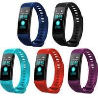 Y5 Intelligente Wristband inseguitore di fitness Health Watch banda di frequenza cardiaca Misuratore di Pressione Sanguigna Intelligente Impermeabile Del Braccialetto per Gli Uomini Le Donne Smartband