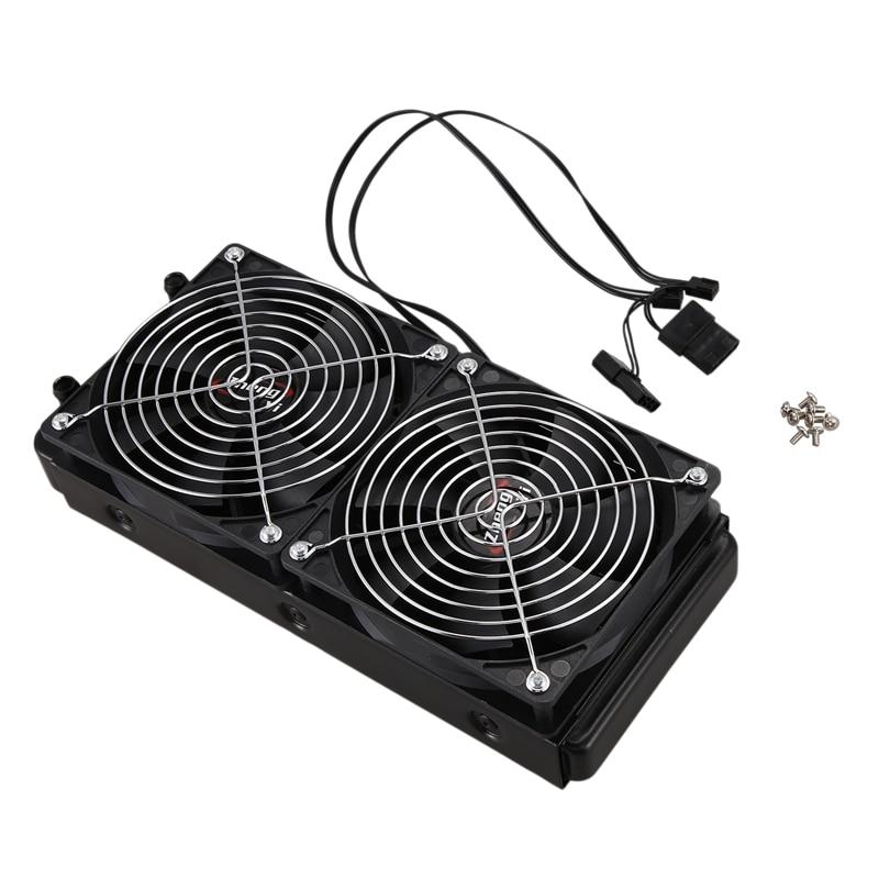 Алюминиевый радиатор теплообменника с водяным охлаждением 240 мм 10 труб с вентилятором для процессора ПК система водяного охлаждения
