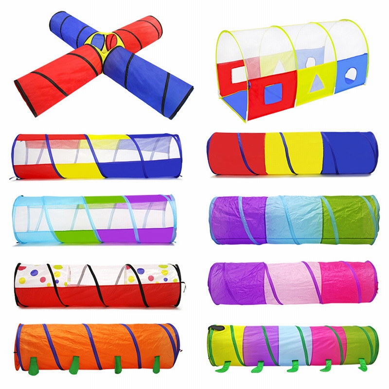 Three Colors Toy Crawling Tunnel Children  Baby Play Crawling Games Access To The Tent Outdoor Indoor Activity