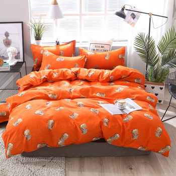 BEST.WENSD 20 Comforter grey bedclothes bed linen snowflake Cotton Bedding set Winter bedsheets duvet cover sets  jogo de cama