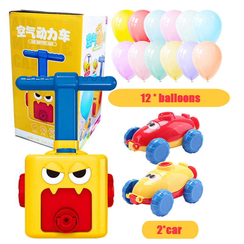 Inertial Air Power Balloon Car Toy Puzzle Fun Education Kids Car Toys Science Experiment Toy For Children Gift Tiktok