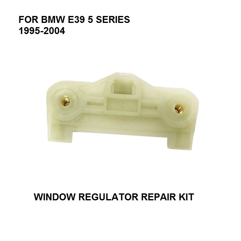 1x METAL SLIDER FOR BMW E39 5 SERIES / 5 ER TOURING 1995-2004 WINDOW REPAIR KIT REAR LEFT RIGHT NEW PLASTIC CLIPS