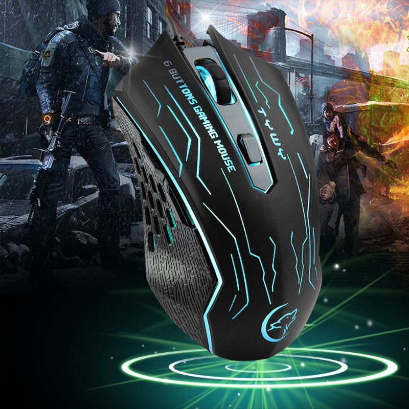 2019 New Mouse EasySMX G820 Optical Gaming Mouse 3200 DPI 6 Buttons Mice Computer Mouse For LOL PUBG Fornite Overwatch Gamers