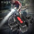 1200mAh USB Перезаряжаемый велосипедный фонарь с масштабированием для велосипеда  передняя фара для велосипеда  светодиодный передний свет для ...
