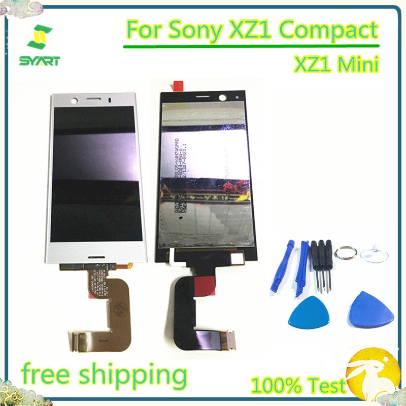 4.6 inch 100% Tested LCD Display With Touch Screen Digitizer Assembly For Sony Xperia XZ1 Mini XZ1 Compact G8441 With Free Tools(China)