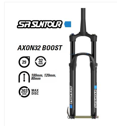 SR Suntour Epixon Mountian Bicycle Fork 29er Air Travel 120mm 9mm QR 28.6mm