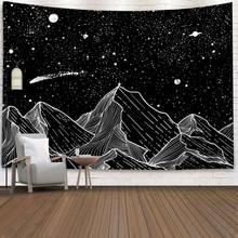 Psychedelic Starry Sky Tapisserie Kunst Wandbehang Haus Decke Dekor Tapisserie