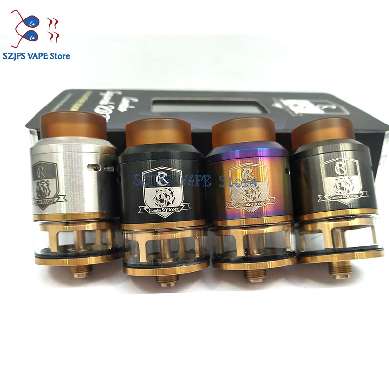 King S RDTA Style 810 RDA RTA 3.5ml Capacity 25mm Vaporizer Tank For Electronic Cigarette Box Mod Hookah Vape Atomizer Vs Thc