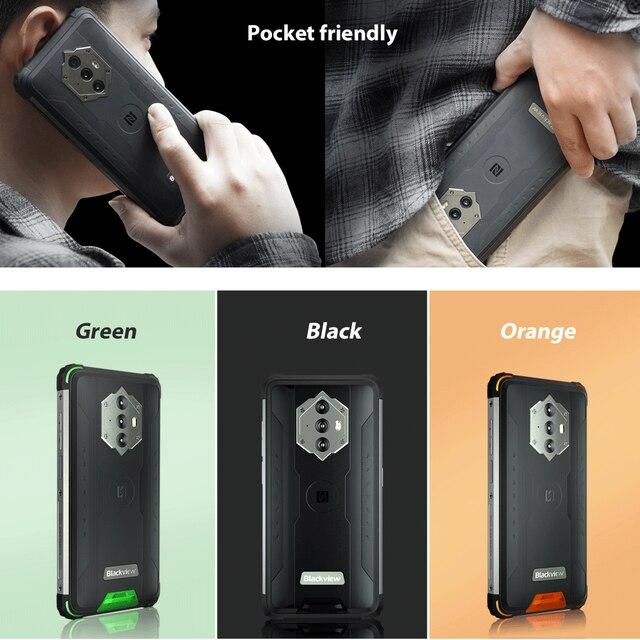 Blackview BV6600 8580mAh Battery Smartphone IP68 Waterproof 4GB+64GB Octa Core Mobile Phone 16MP Camera NFC Cellphones 6
