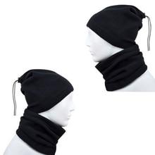 Hats Wear-Collar Scarf Winter Women Snood Neck-Warmer Face-Mask Black Sports Unisex 4-In-1