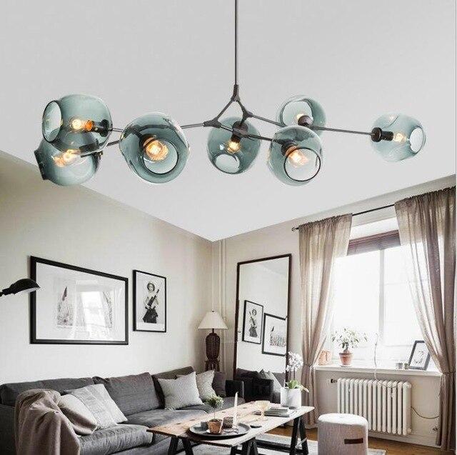 Modern Glass Pendant Light Nordic Dining Room Kitchen Light Designer Hanging Lamps Avize Lustre Lighting end table