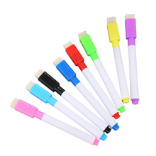 24pcs Erasable Whiteboard Pen Magnetic Whiteboard Pen Erasable Marker Carrying Brush (8 Colors)