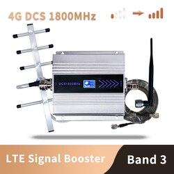 3g 4G LTE DCS 1800 МГц Мобильный телефон усилитель GSM 1800 повторитель сигнала сотовый телефон усилитель сети 65 дБ усиление ЖК-дисплей