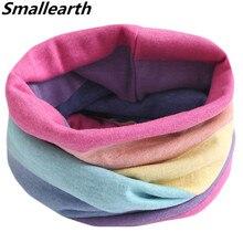 Новинка года, осенне-зимний детский хлопковый шарф, детский шарф, теплые шарфы для мальчиков и девочек, детский волшебный шейный платок с круглым вырезом