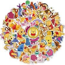 50 pçs disney dos desenhos animados winnie o pooh adesivos crianças brinquedos à prova dwaterproof água professor presente do bebê recompensa pvc presente de natal