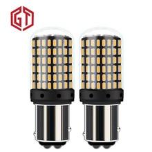 GUANGJI 2pcs 1157 P21/5 W BAY15D Canbus супер яркий 2000Lm светодиодный автомобильный поворотный сигнал лампа автомобильная Тормозная лампа дневного света