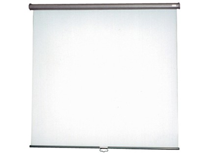 SCREEN MURAL CLOTH WHITE MATTE 150X150 CM CHECK AND WINDING MECHANISM AUTOMATICO