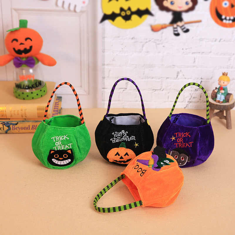 Cloth Tote Bag Childs Halloween Trick or Treat Bag Machine Washable Halloween Bag Cloth Trick or Treat bag Reversible Trick or Treat Bag