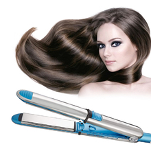 Floating plate flat iron hair straightener