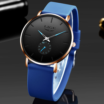 Relogio Masculino LIGE New Fashion Men Watches Analog Quartz Wristwatches 30M Waterproof Sport Leather Band montre homme - discount item  80% OFF Men's Watches