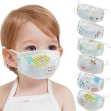 Cotton Scarf 6pc Children Face Maks Faceshields Fashion Outdoor Sunscreen Maskes Face Maskswashable And Reusable Mascarilla(China)