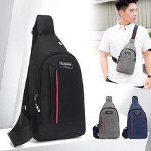 Pacote de peito masculino estudantes esportes ao ar livre e casual bolsa de lona impermeável e resistente ao desgaste mochila