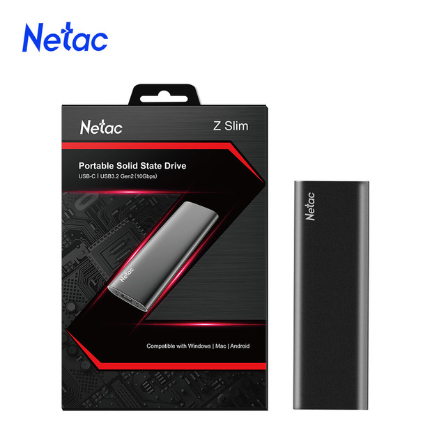 Netac External SSD 250GB 500GB 1TB 2TB Portable SSD Solid State Drive USB 3.1 Type C Gen 2 Hard Drive Disk For Laptop PC 1