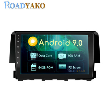 9'' Android Auto Car Radio Navigation GPS Video Player For Honda Civic 2016-2019 Stereo Car Multimedia system 2 Din Autoradio image