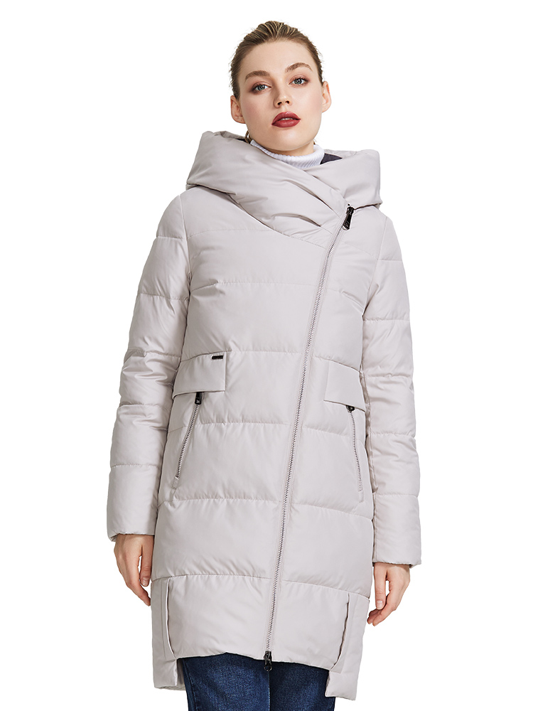 Jacket Hood-Coat Collection Stand-Up-Collar MIEGOFCE Real-Bio-Parka Warm Women's Windproof