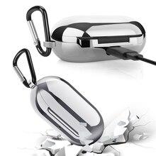 Funda electrochapada de TPU para auriculares Bluetooth, para Samsung Galaxy Bud, enganchado a la Caja, Protector con puerto de orificio de carga