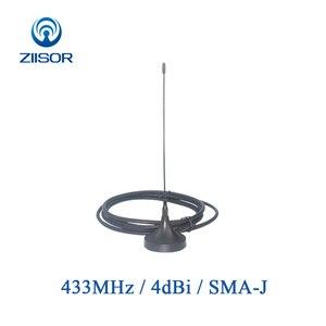 Image 1 - 2 adet 433MHz Lora anten manyetik taban Omni 433M anten SMA erkek anten WLAN kablosuz modülü DTU hava TX433 XP 200