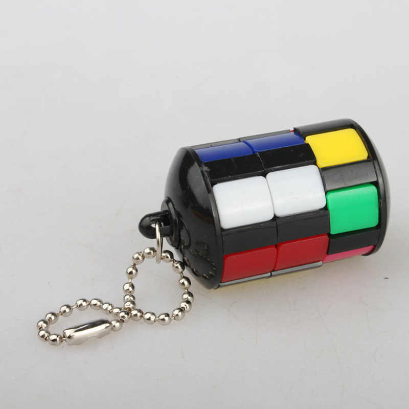 1 PC Puzzle Educational Kids Toys for Children Smart Tower Magic Cube with Keychain Jigsaw Puzzles Anti-stress Interesting Games