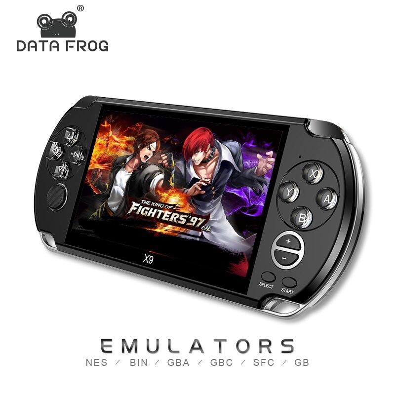 Data Frog Juego De Mano Para GBA Consolas De Juegos Portátiles 3000 Juegos Clásicos MP5 Consola De Juegos Para Niños Con Pantalla De 5,0