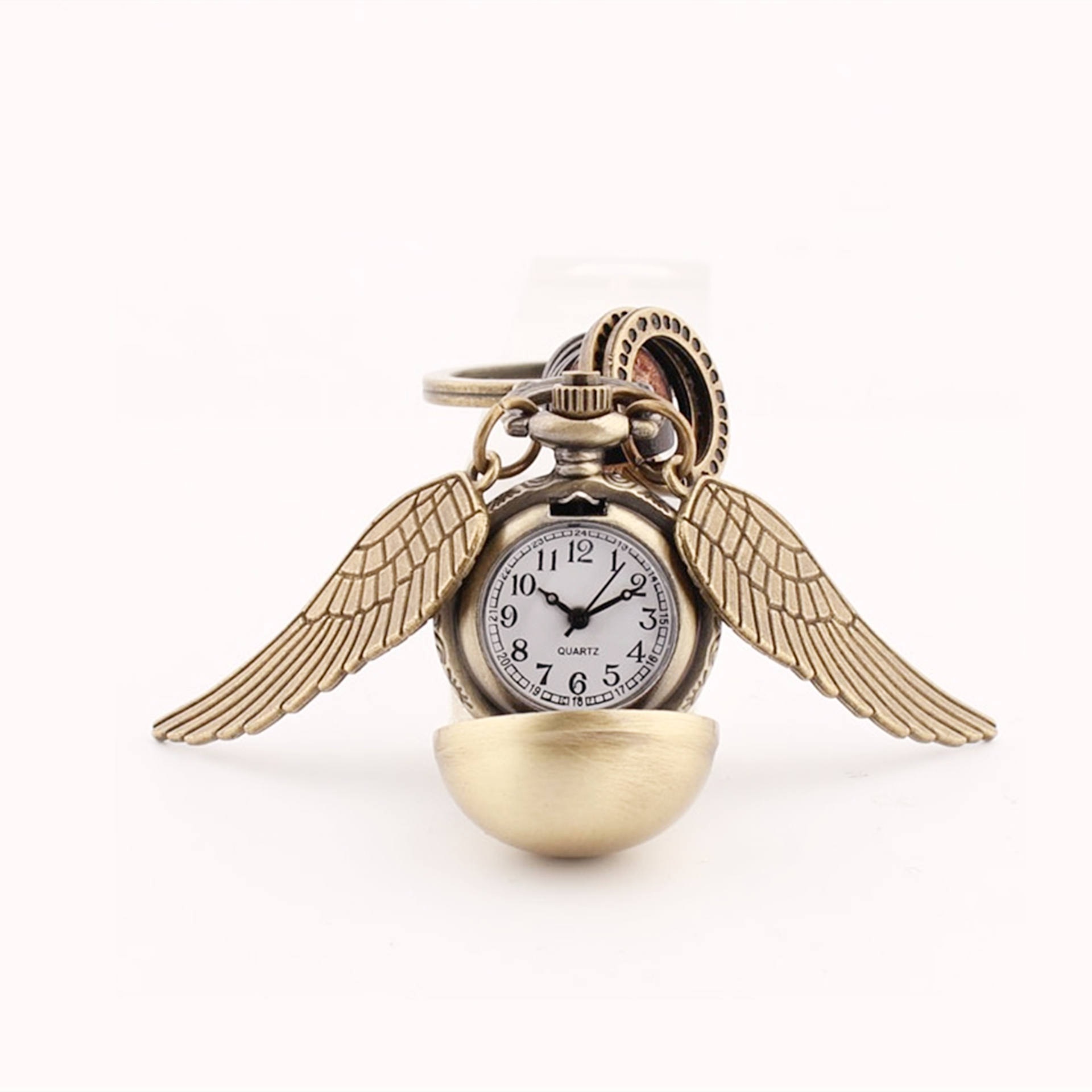 Angel Wing Keychain Slytherin Hufflepuff Time Turner Watch Quidditch Seeker Key Chain Ring witchcraft Accessory For Men Women 1