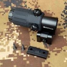 Portata di caccia esterna G33 3X lente d'ingrandimento mirino olografico per supporti per binari tessitori da 20mm con interruttore laterale staccabile rapido