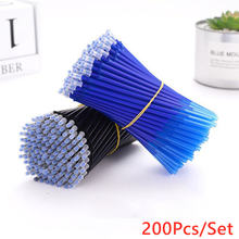 200 шт стираемая ручка Набор сменных стержней цвет синий черный;