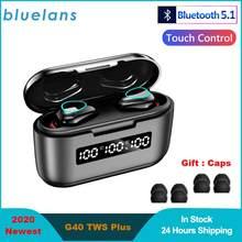 G40 TWS Plus Bluetooth 5,1 Kopfhörer Mini Touch Control 9D Hifi Stereo Sport Dual-Mic Ohrhörer Mit 3500Mah lade Box