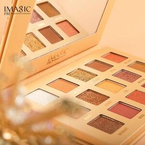 Image 2 - Imagic conjunto de combinação 15 cor eyeshadow bandeja nova 9 maquiagem escova meninas beleza cosméticos