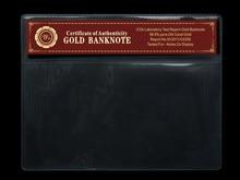 WR colección COA Marco de hoja de oro billete colección de plástico caso de dinero proteger caja de PVC artesanía