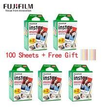 20-100 folhas fuji fujifilm instax mini 11 9 8 filmes borda branca 3 Polegada filme para câmera instantânea mini 8 9 7s 25 50s 90 papel de foto