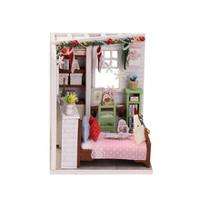 Doll house model toys role play elegant  furnishing Dolly Pavilion Times room children educational Christmas