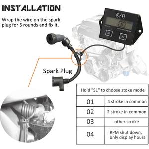 Image 4 - Digital del motor tacómetro medidor de horas tacómetro medidor para 2 o 4 tiempos motor de Gas inductivo de motores de la motocicleta barco