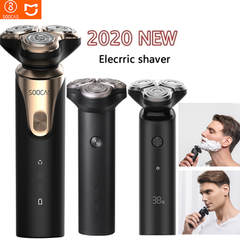 Men's razor electric shaver men's beard hair trimmer wet and dry dual-use rechargeable washable 3D head 5 - discount item  53% OFF Personal Care Appliances