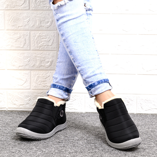 2020 winter boots women waterproof snow women shoes flat Casual Winter Shoes Ankle Boots for Women plus Size Couple shoes 5