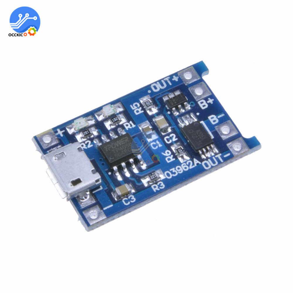 Micro USB 5V 1A 18650 TP4056 Sạc Pin Lithium Mô Đun Bo Mạch Sạc Với Bảo Vệ Kép Chức Năng